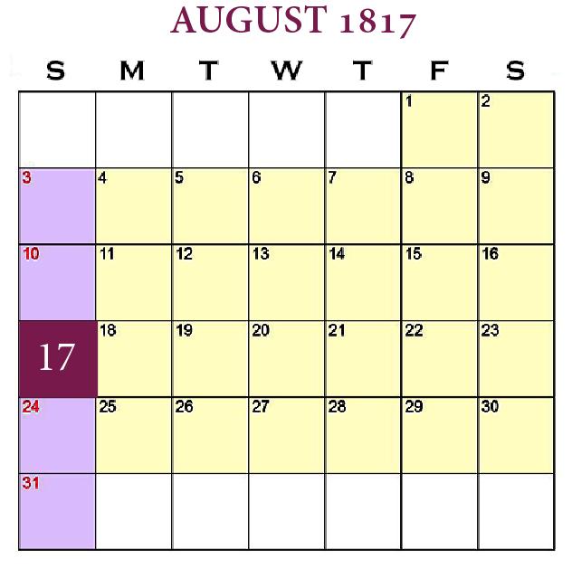 New Beginnings—The Mass, Our Center August 17, 1817