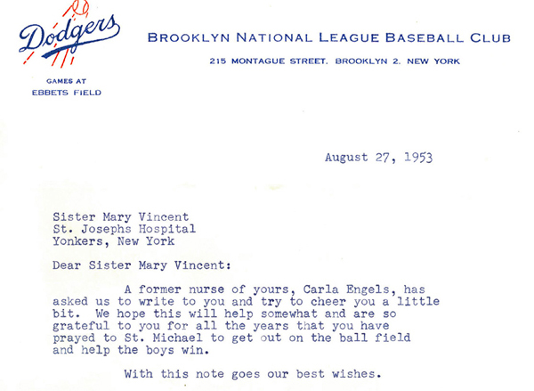 From the 1953 Brooklyn Dodgers to a Sister of Charity