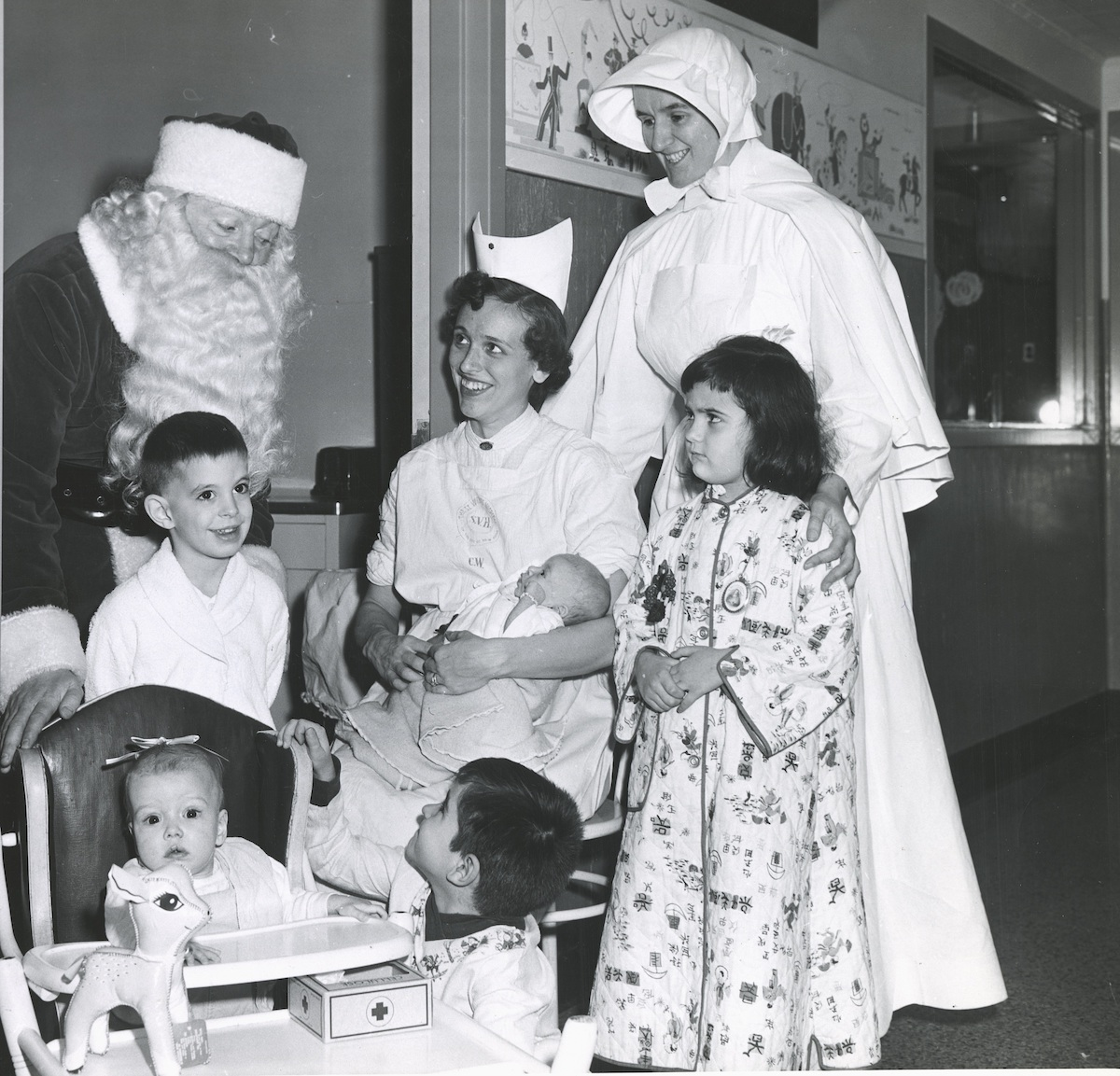 Pediatric patients at Christmas party