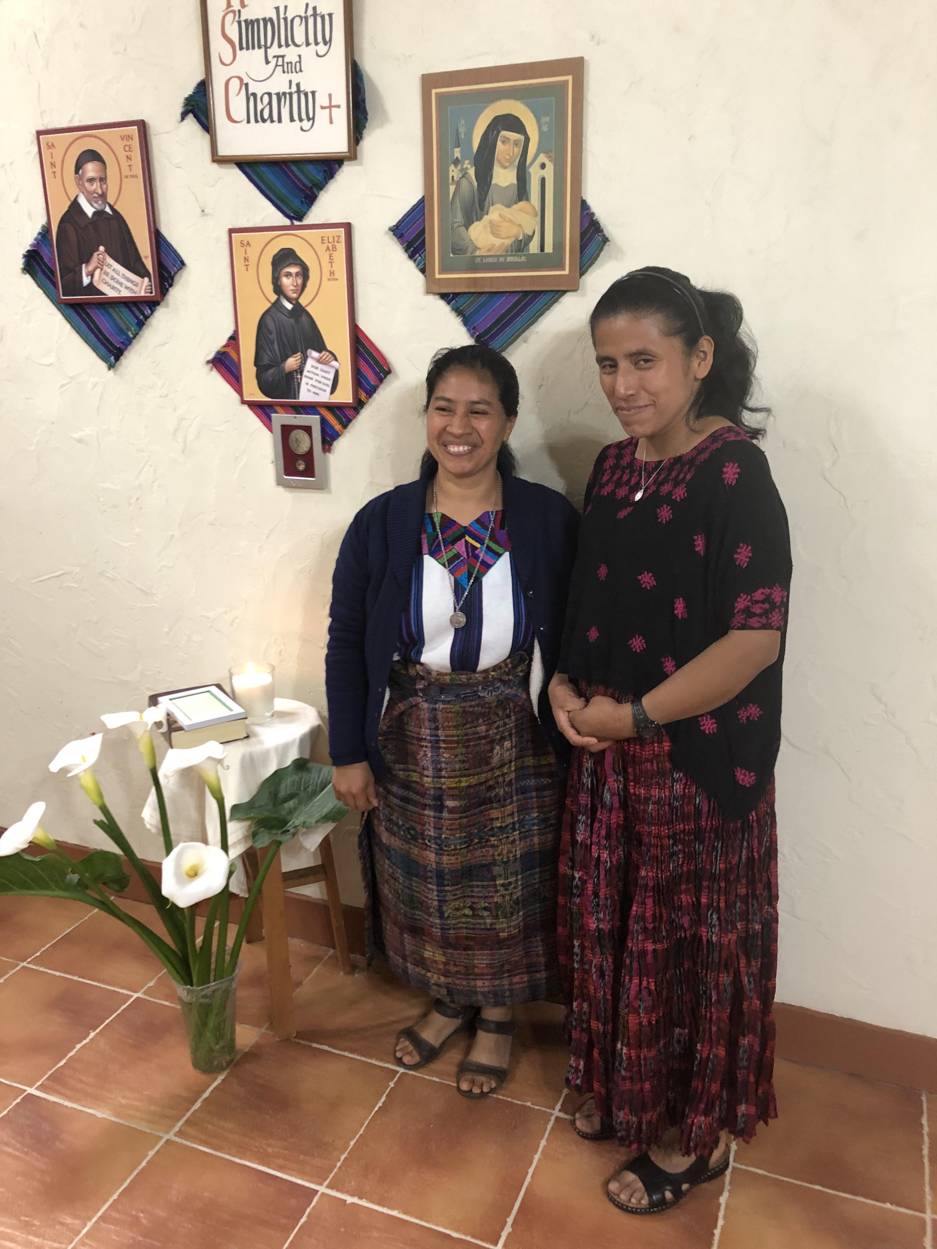 Sister Rosenda (left) with Postulant Margarita