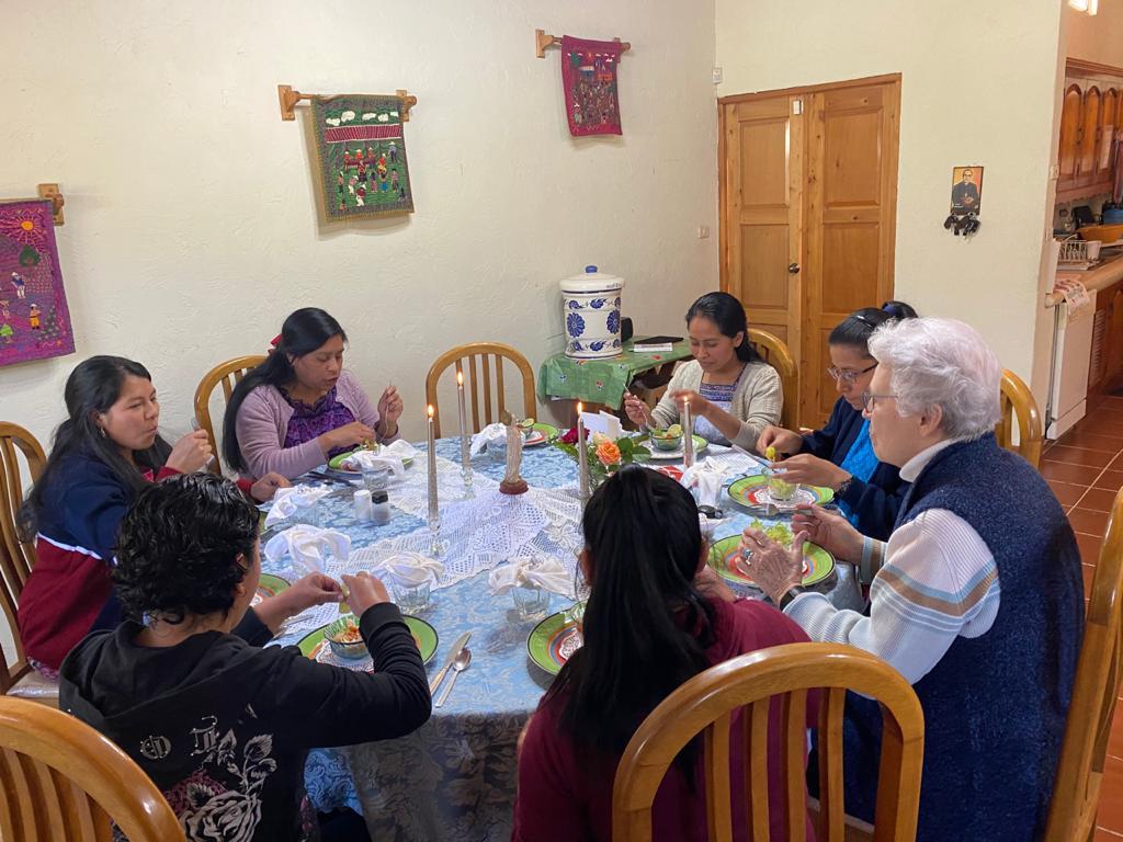 Gathering in celebration of the new postulant and novice